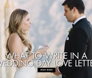 What to write in a wedding day love letter to your future husband wife spouse