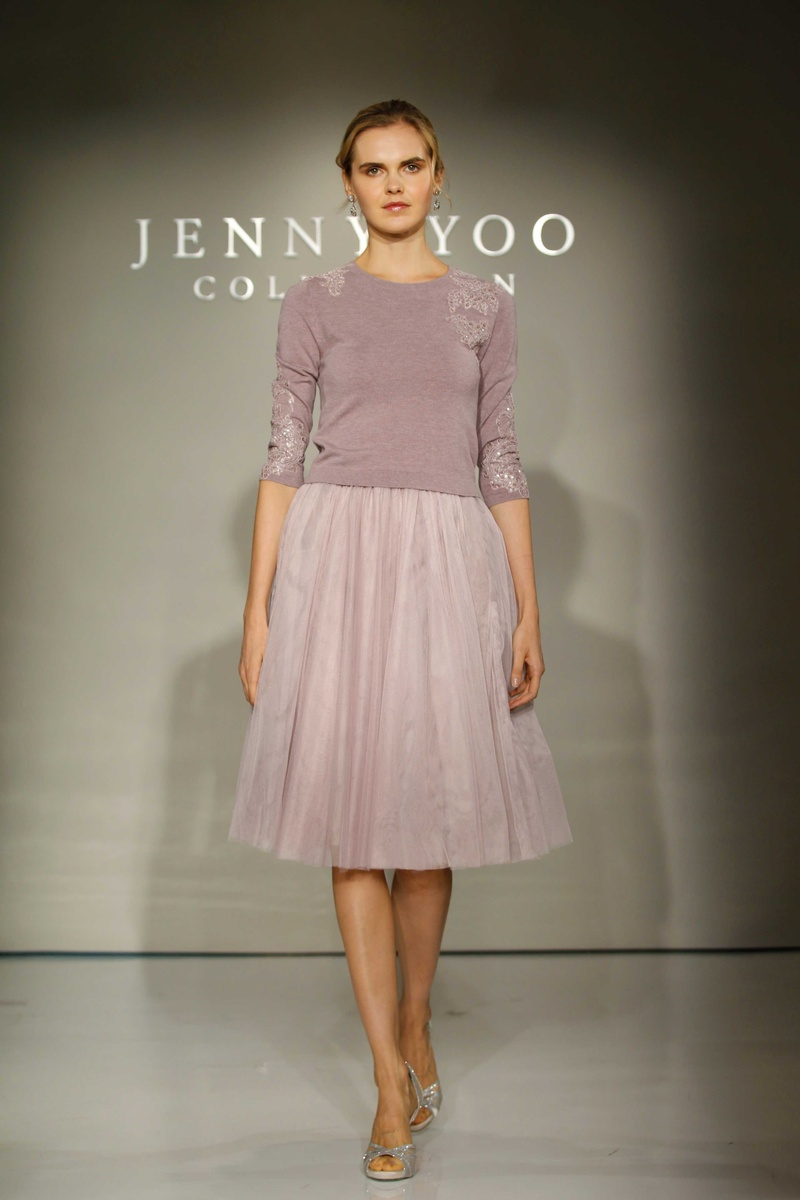 Brides bridesmaids photos paisley lucy by jenny yoo jenny yoo bridesmaids 2016 two piece bridesmaid dress with purple sweater and skirt ombrellifo Gallery
