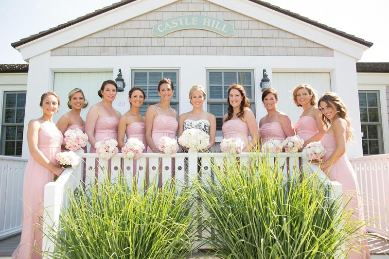 Castle Hill Inn summer wedding with pink bridesmaids