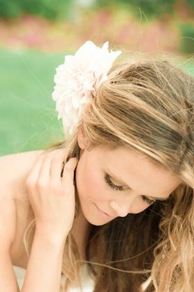 Katrina Hodgson wedding day beauty hairstyle