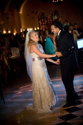 Nicholas Barnett and wife's first dance at wedding