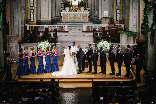 Los Angeles church African American wedding ceremony