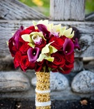 Indian bridal flowers and bouquet wrap