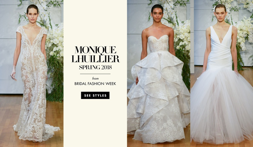 Monique Lhuillier spring 2017 bridal collection bridal fashion week wedding dresses