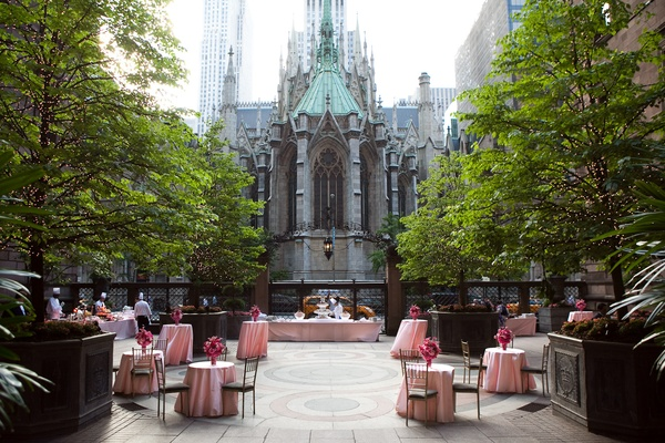 St. Patrick's Cathedral backdrop in NYC