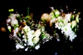 Bouquets of white flowers