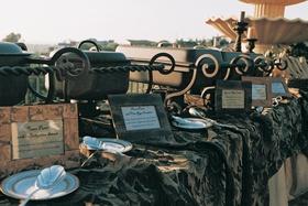 Outdoor reception dining buffet