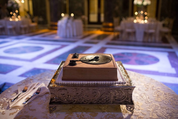 groom's cake shaped record player chocolate wedding reception dessert delicious tradition