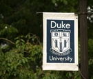 duke university sign displayed on pole