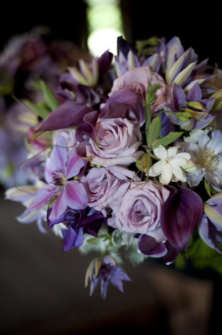 Bouquets Photos - Purple + Textured Bridal Bouquet - Inside Weddings