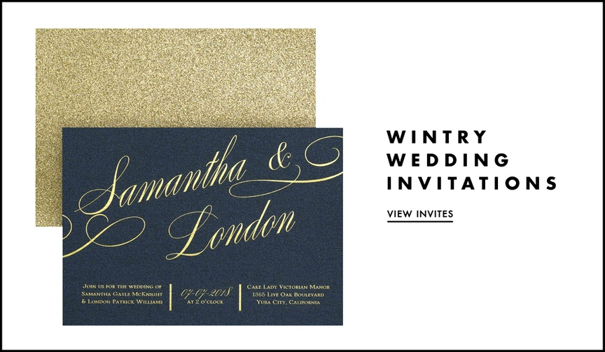Winter wedding invitation ideas for festive celebrations