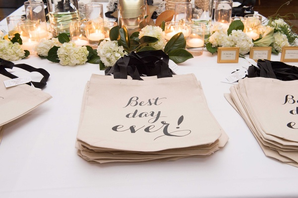 best day ever tote bags for wedding favors