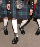 Groomsmen in traditional Scotland kilts and shoes
