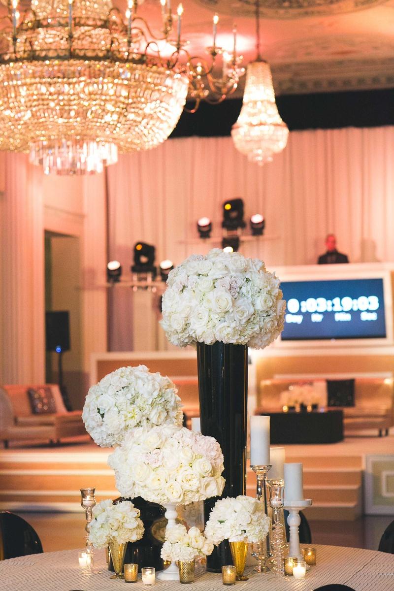 Black White Gold Living Room Decor: Gold, Black & White NYE Reception