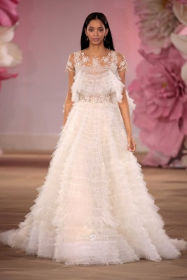 Ines Di Santo Couture Bridal Collection Spring Summer 2017 Cheer ruffle ball gown with jacket
