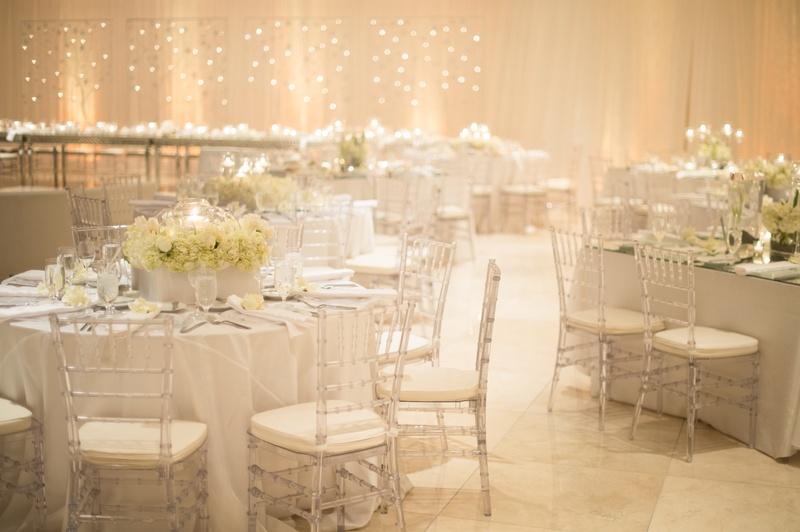Ethereal wedding celebration bathed in candlelight