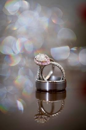 ashley alexiss wedding engagement ring light pink diamond halo setting pear cut diamond teardrop