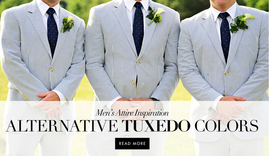 Alternative wedding suit and tuxedo ideas for grooms and groomsmen