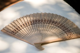 Wedding ceremony favor Chinese style fan