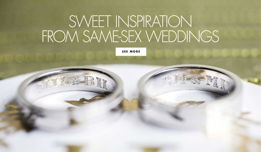 same-sex wedding inspiration june national pride month gay lesbian couples lgbtq+ love wins