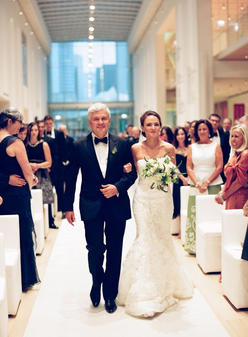 Guests family photos father of the bride walks for Wedding dress cleaning chicago