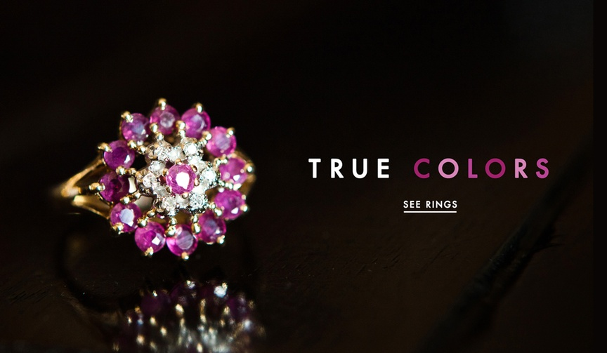 Engagement rings with color stones proposals