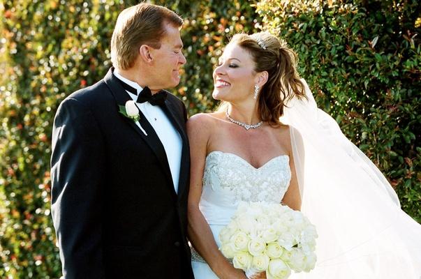Santa Barbara bride with father of bride in tuxedo