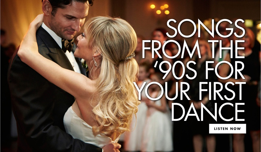 songs from the 1990s for your first dance 90s wedding songs