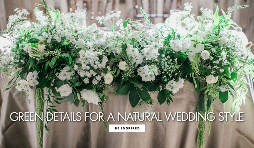 green wedding details natural wedding style st. patrick's day inspiration