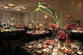 Ballroom reception décor and centerpieces