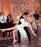 Tamra Barney and Eddie Judge choreographed first dance