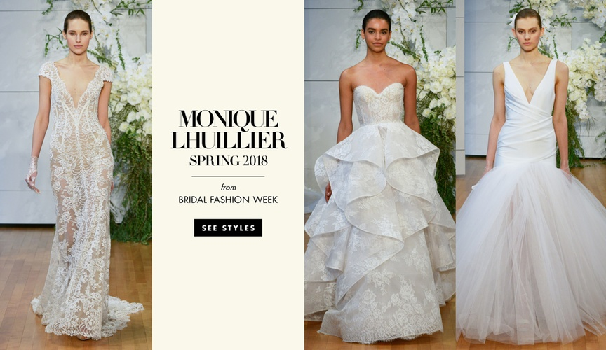Monique Lhuillier spring 2017 bridal collection bridal fashion week wedding dresses