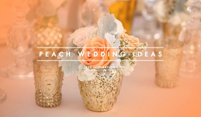 Pretty Peach Color Wedding Ideas
