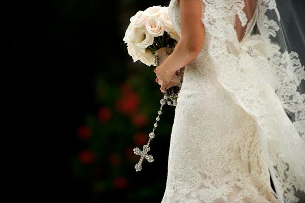 Courtney Mazza's Ines Di Santo wedding attire