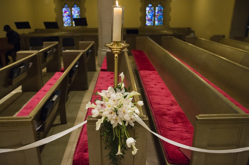 Ceremony Dcor Photos Church Pew Decoration Inside Weddings