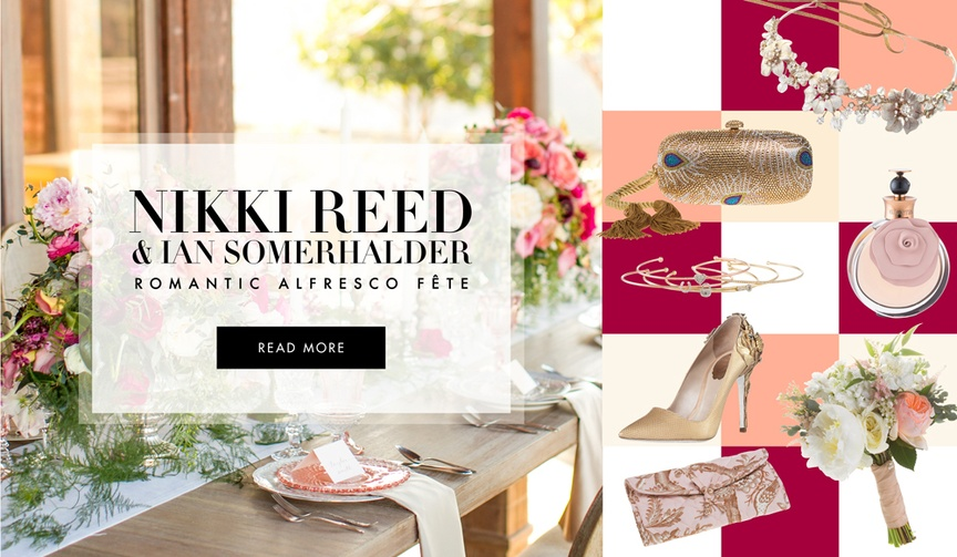 Romantic alfresco wedding ideas from Nikki Reed and Ian Somerhalder