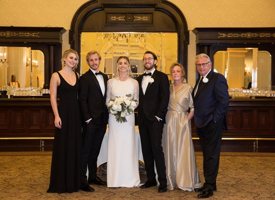 duane kuiper with family, duane kuiper's daughter's wedding, wedding family portrait