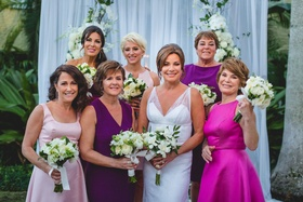 The Real Housewives of New York City star Luann de Lesseps' wedding party bridesmaids in dresses