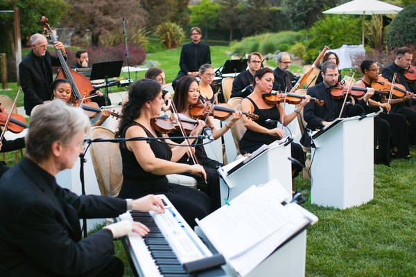 wedding ceremony entertainment violins violas bass cello piano orchestra