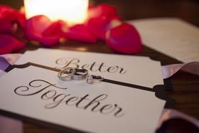 Bride's engagement ring in pavé setting, diamond wedding ring groom's platinum ring