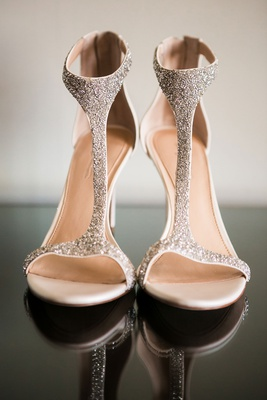 high heels for wedding sparkles nude base