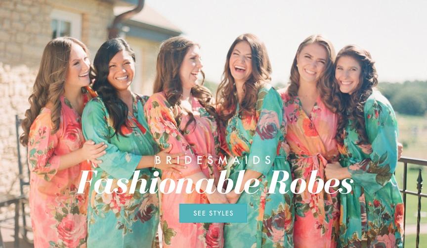 Bridesmaid robe ideas for getting ready photos