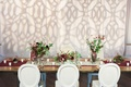 Bridal Bliss Events Marsala wedding table runner