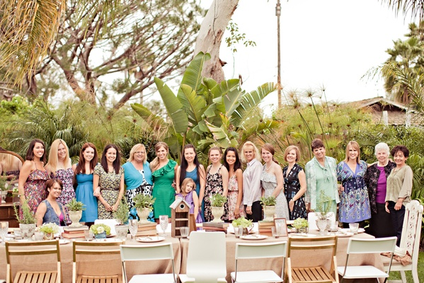 Family and friends of bride-to-be