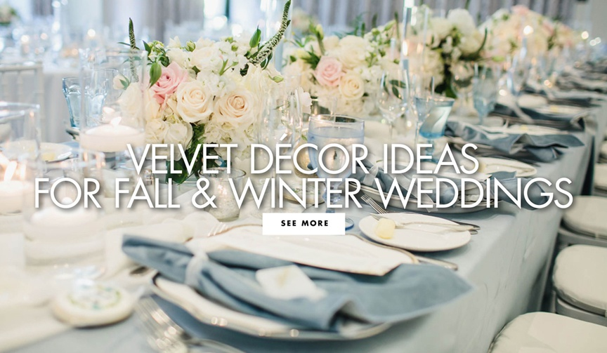 velvet decor ideas for fall and winter weddings wedding ideas
