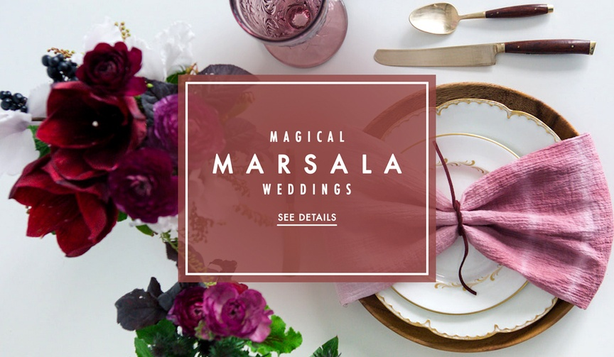 Our favorite weddings with marsala wedding color palette