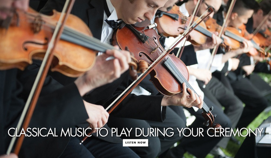 Intimidating classical songs for weddings