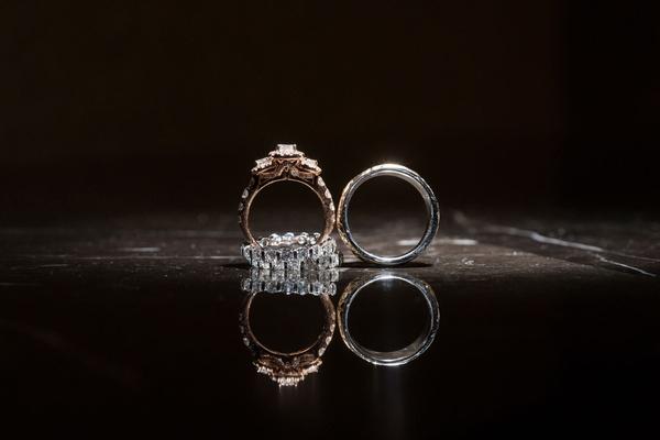 wedding rings for bride and groom ghana royalty wedding rings standing up