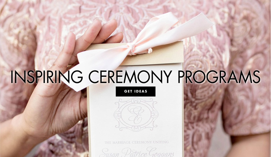 inspiring ceremony programs for your wedding ceremony vow exchange wedding schedule for guests