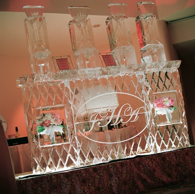 Large martini bar carved out of ice